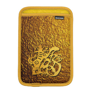 Golden Dog Year Chinese Papercut Sleeve