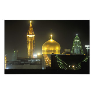 Golden dome of the Imam Reza Shrine Complex at Art Photo