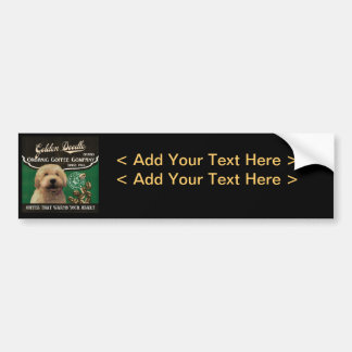 Golden Doodle Brand – Organic Coffee Company Car Bumper Sticker