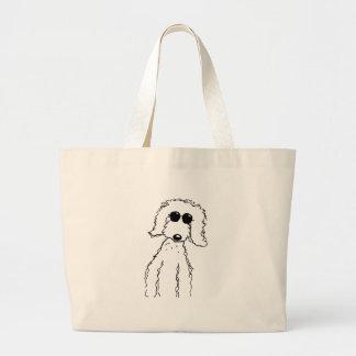 Golden Doodle in Sunglasses Jumbo Tote Bag