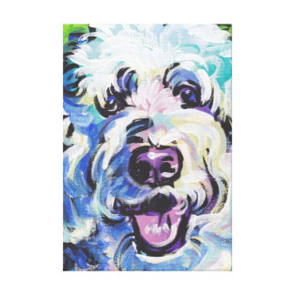 Golden Doodle Pop Dog Art on Wrapped Canvas Canvas Prints