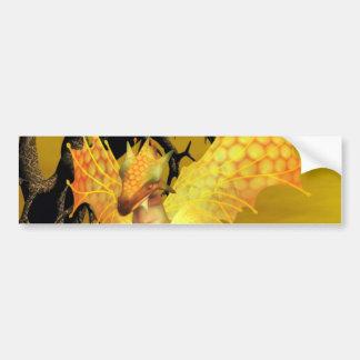 Golden Dragon Bumper Sticker Car Bumper Sticker