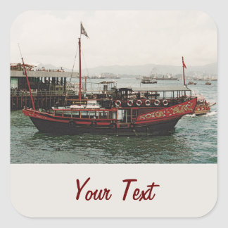 Golden Dragon Ferry Hong Kong Square Sticker