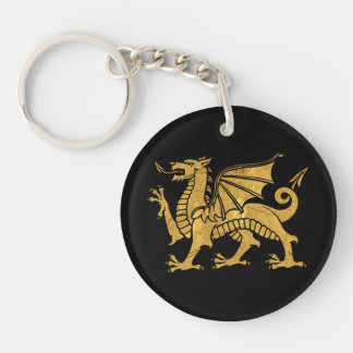 Golden Dragon Key Ring