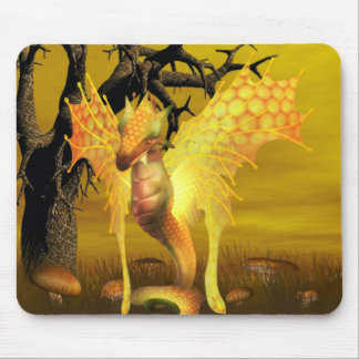 Golden Dragon Mouse Pad