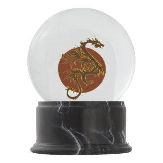 Golden Dragon Sun + your background & ideas Snow Globe