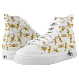 Golden Dragonflies High Top Sneakers