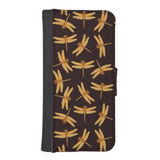 Golden Dragonflies Insect iPhone Wallet Cases iPhone 5 Wallet Case