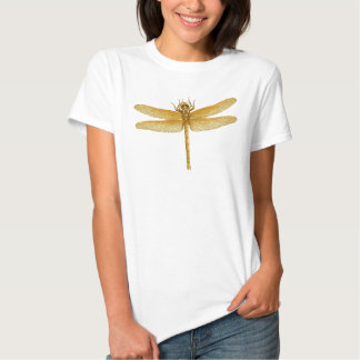 Golden Dragonfly Ladies Babydoll Tee
