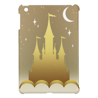 Golden Dreamy Castle In The Clouds Starry Moon Sky iPad Mini Cases