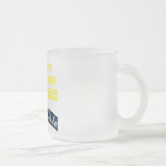 Golden Drops / Bobbie Ale Frosted Glass Coffee Mug