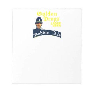 Golden Drops / Bobbie Ale Notepad