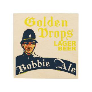Golden Drops / Bobbie Ale Wood Print
