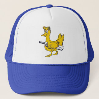 Golden duck cricket cap