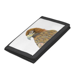 Golden Eagle Bird Watercolour Painting Artwork Trifold Wallet