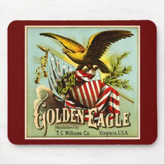 Golden Eagle Chewing Tobacco Label Vintage Mouse Pad