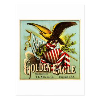 Golden Eagle Chewing Tobacco Label Vintage Postcard