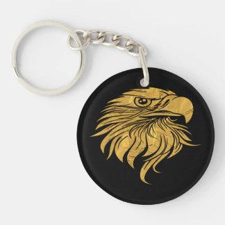 Golden Eagle Head Key Ring