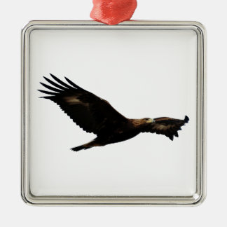 Golden Eagle Soaring Metal Ornament