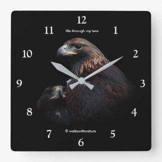 Golden Eagles: Beauties Thru the Bars Square Wall Clock