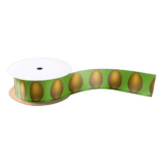 Golden Easter Eggs - Ribbon Satin Ribbon