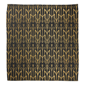 Golden Egyptian Wheat Color Barley Art Deco Bandana