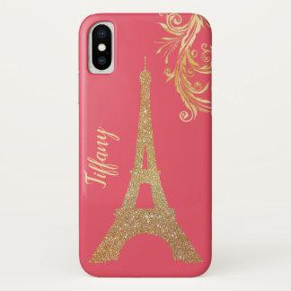 Golden Eiffel Tower Custom iPhone X Case
