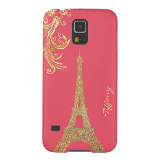 Golden Eiffel Tower Custom Samsung S5 Case