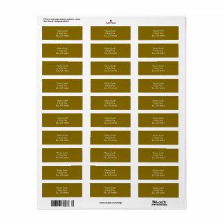 Golden Elm Address Labels