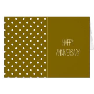 Golden Elm Happy Anniversary Card
