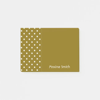 Golden Elm Personalized Polka Dots Post-it Notes