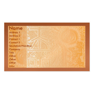 Golden Engraved Look Pack Of Standard Business Cards