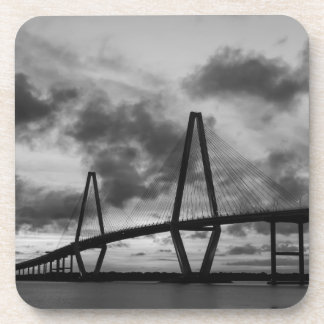 Golden Evening At Arthur Ravenel Grayscale Drink Coasters