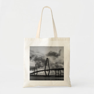 Golden Evening At Arthur Ravenel Grayscale Tote Bag