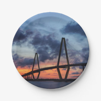 Golden Evening At Arthur Ravenel Paper Plate