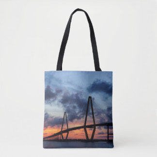 Golden Evening At Arthur Ravenel Tote Bag