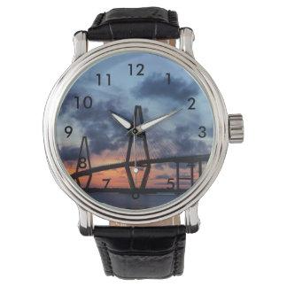 Golden Evening At Arthur Ravenel Wrist Watches