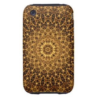 Golden Eye Mandala Tough iPhone 3 Covers