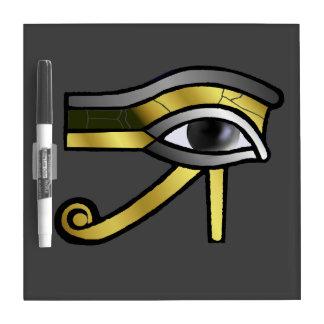 Golden Eye of Horus Dry Erase Board