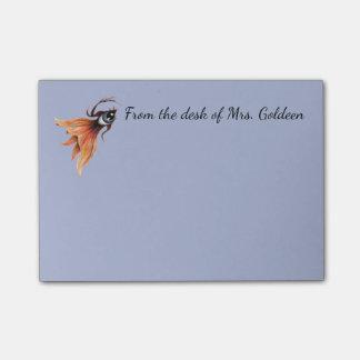 Golden Eye Surreal Goldfish Fantasy Art Custom Post-it Notes