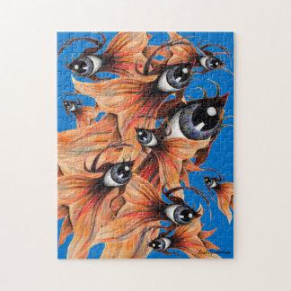 Golden Eye Surreal Goldfish Fantasy Art Tough Puzzles