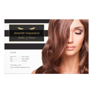 Golden Eyelashes with Black and White Stripes Flyer