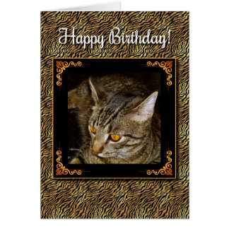 Golden Eyes Birthday Card