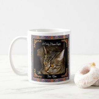 Golden Eyes Psychedelic Paisley Coffee Mug