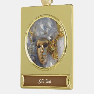 Golden Face Gold Plated Banner Ornament
