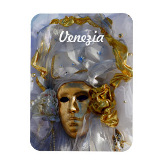 Golden Face Rectangular Photo Magnet