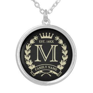 Golden Family Logo Dark Pendant Necklace