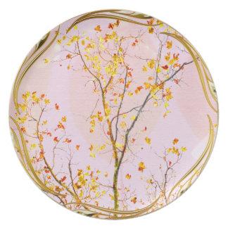 Golden Family Tree Melamine Plate