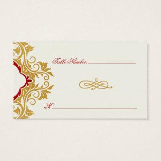 Golden fancy flourishes table escort card