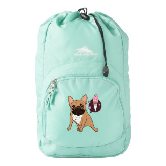 Golden Fawn French Bulldog wants an ice cream Backpack